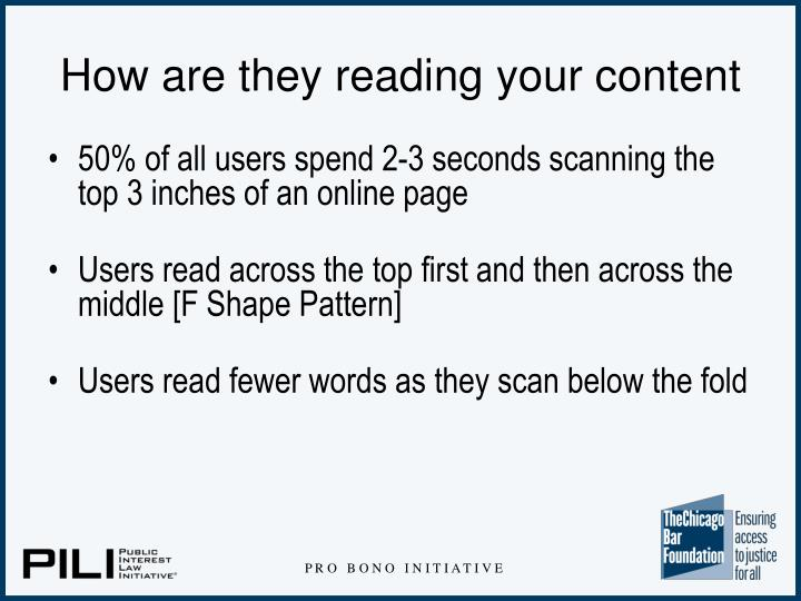 How are they reading your content