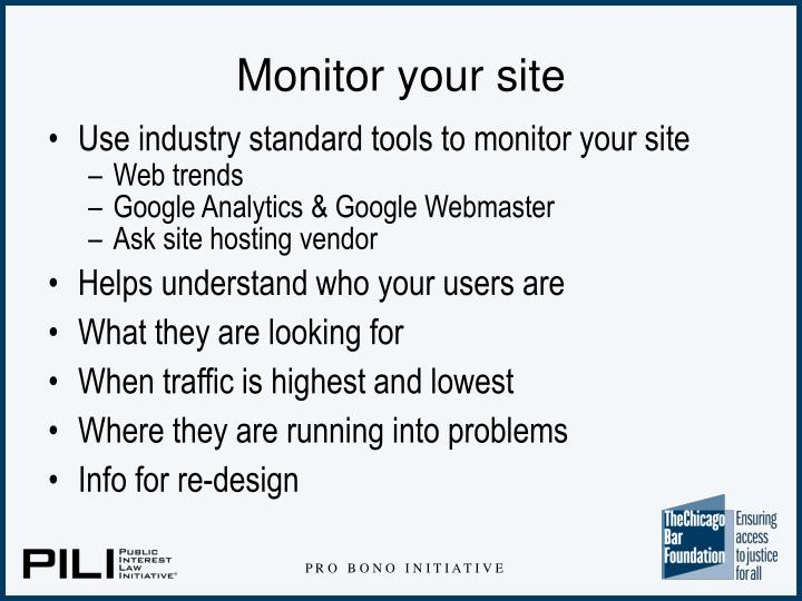 Monitor your site