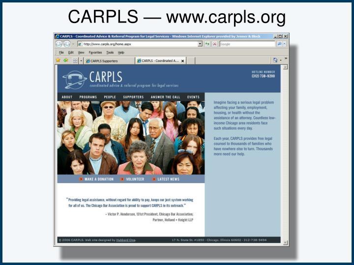 CARPLS — www.carpls.org