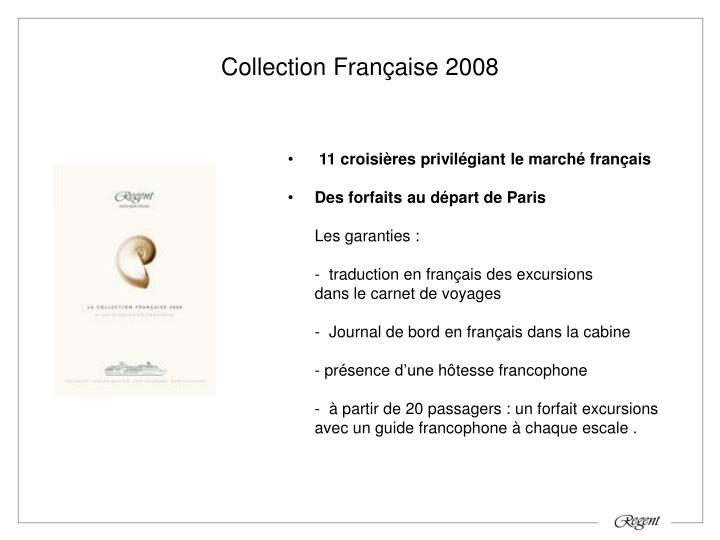 Collection Française 2008