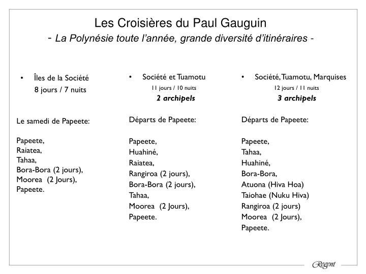 Les Croisières du Paul Gauguin