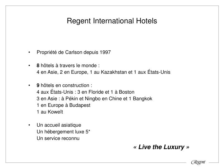 Regent International Hotels
