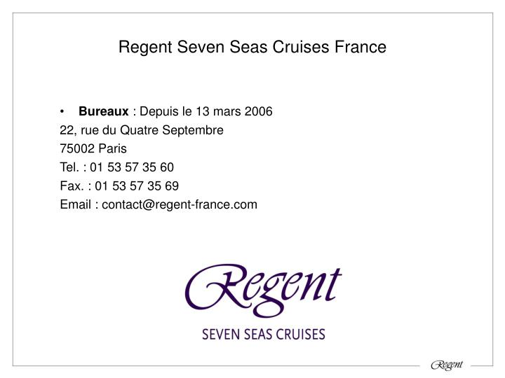 Regent Seven Seas Cruises France