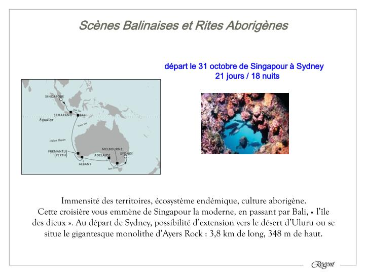 Scènes Balinaises et Rites Aborigènes