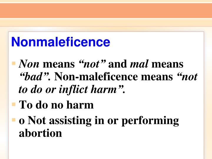 Nonmaleficence