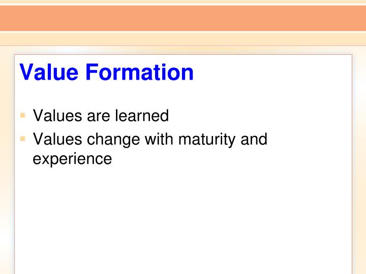 Value Formation