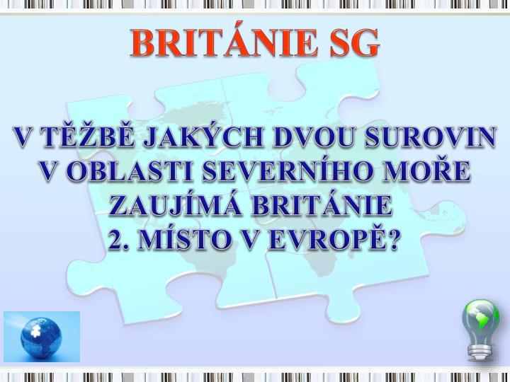 BRITÁNIE SG