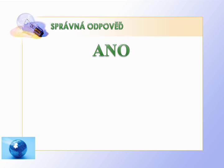 SPRÁVNÁ ODPOVĚĎ