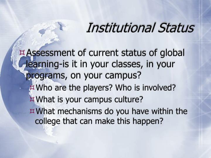 Institutional Status