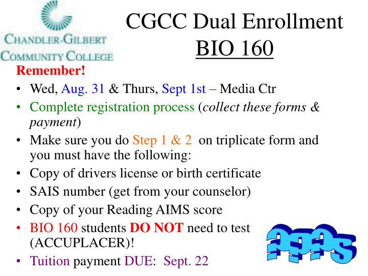 CGCC Dual Enrollment
