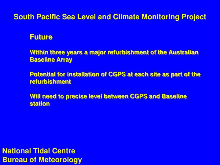 South Pacific Sea Level and Climate Monitoring Project