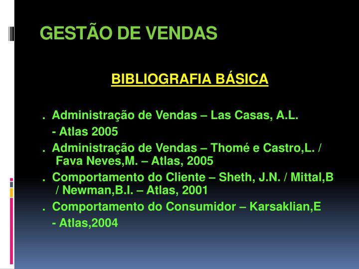GESTÃO DE VENDAS