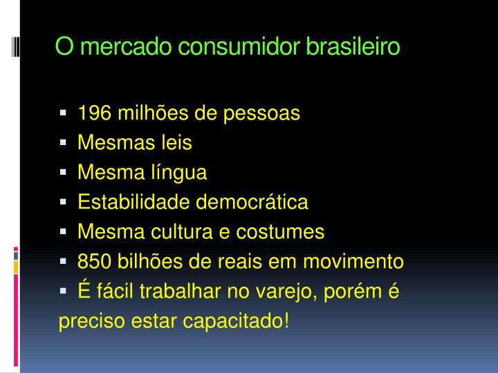 O mercado consumidor brasileiro