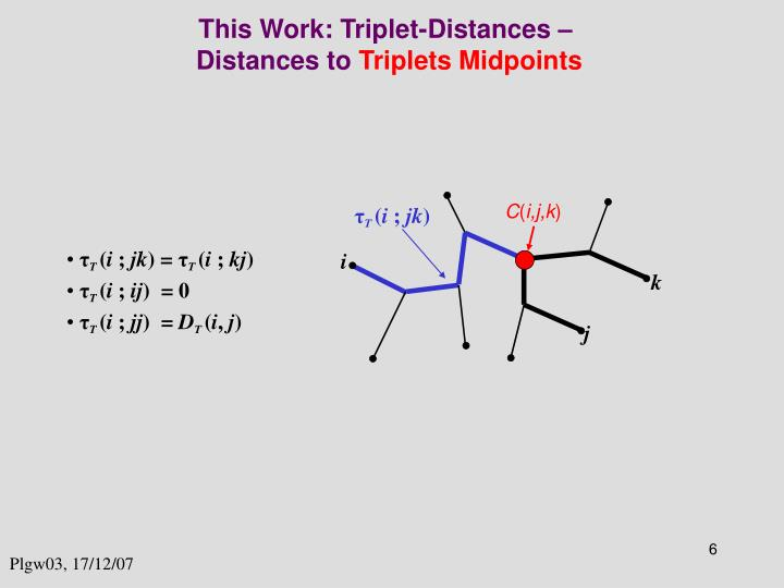 This Work: Triplet-Distances –