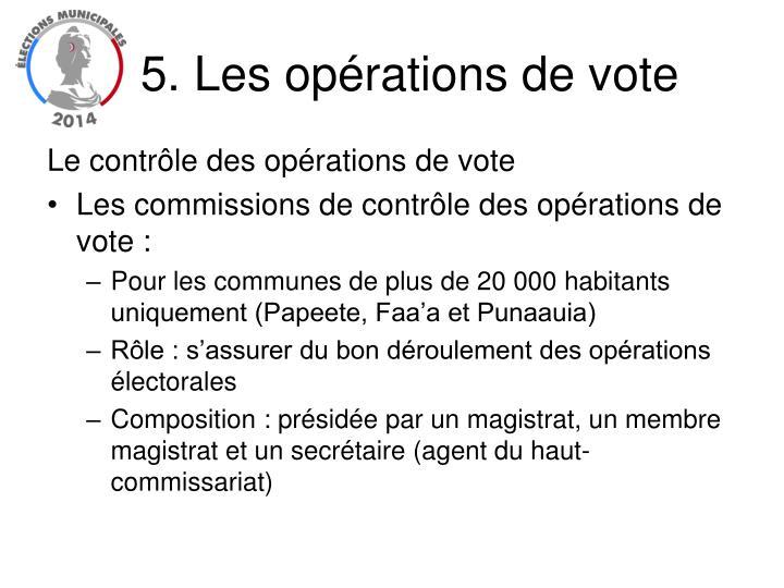 5. Les opérations de vote