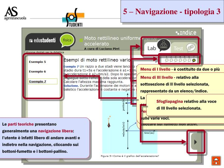 5 – Navigazione - tipologia 3