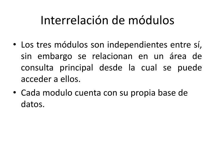 Interrelación de módulos