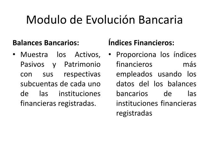 Modulo de Evolución Bancaria