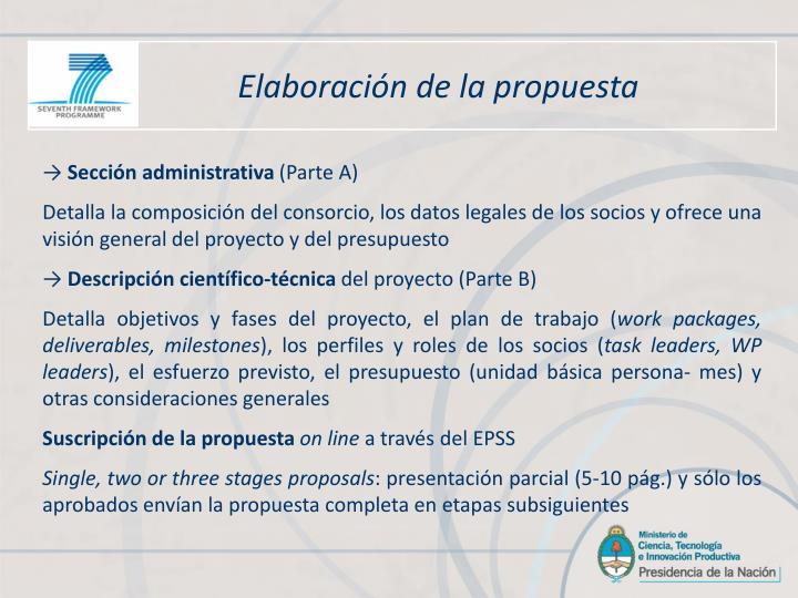 Elaboración de la propuesta