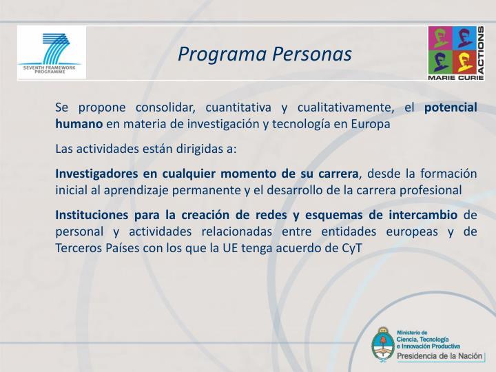 Programa Personas