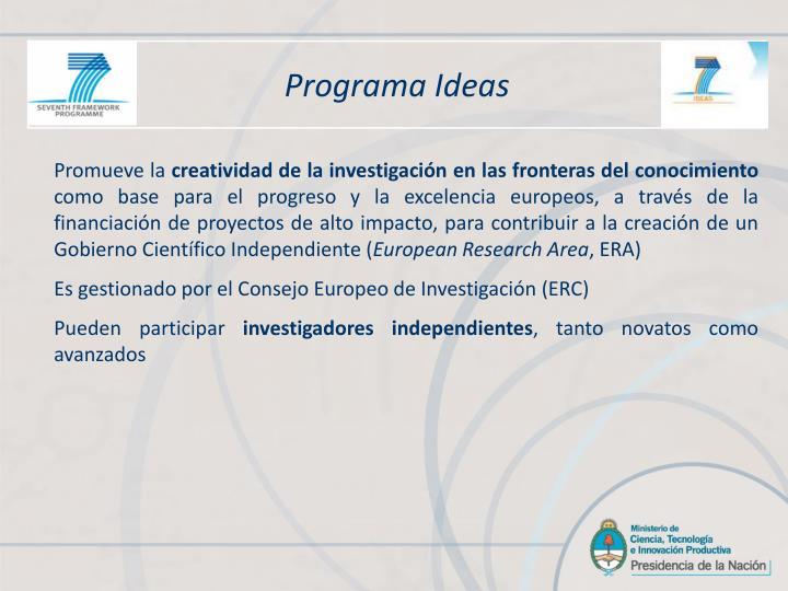 Programa Ideas