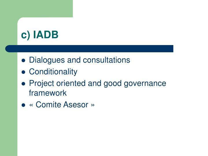 c) IADB