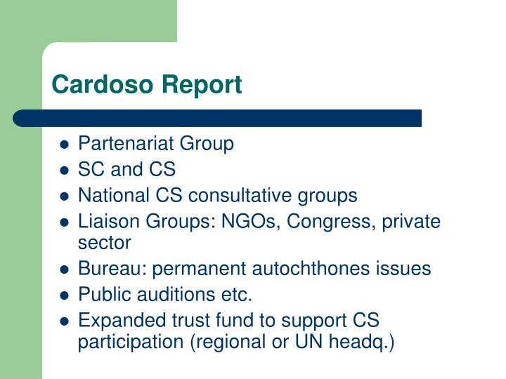 Cardoso Report