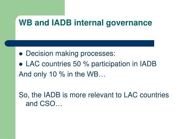 WB and IADB internal governance