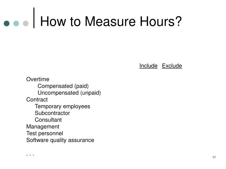 How to Measure Hours?