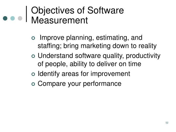 Objectives of Software Measurement