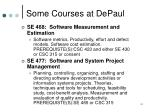 some courses at depaul