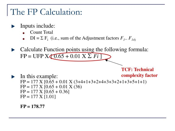 The FP Calculation: