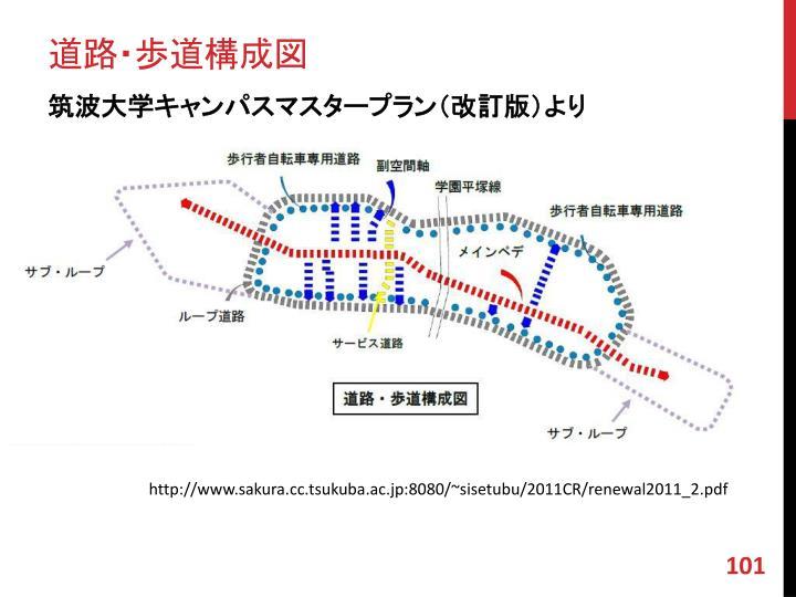 道路・歩道構成図