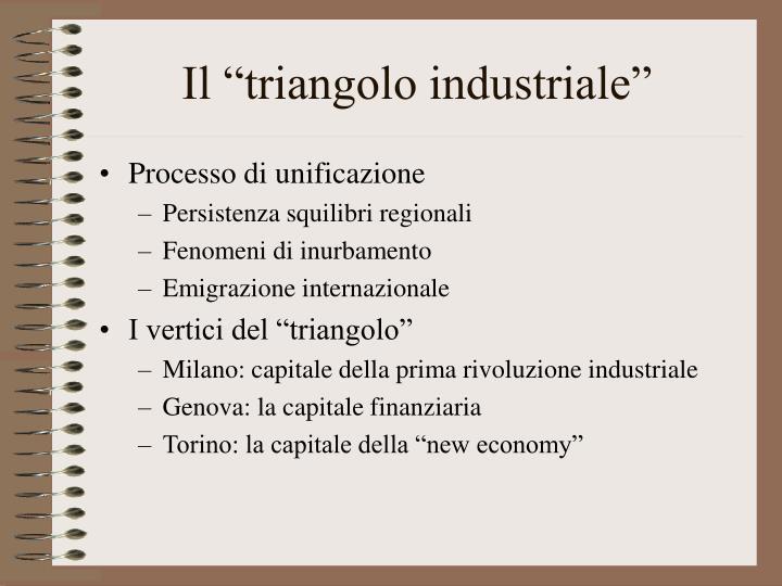 """Il """"triangolo industriale"""""""