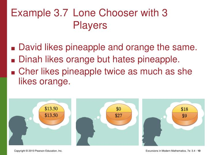 Example 3.7Lone Chooser with 3 Players