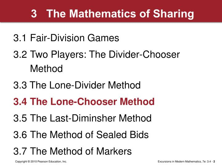 3   The Mathematics of Sharing
