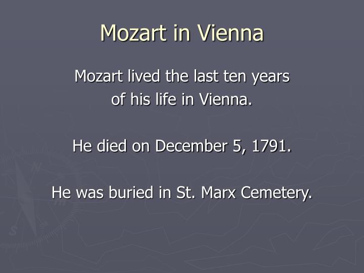 Mozart in Vienna