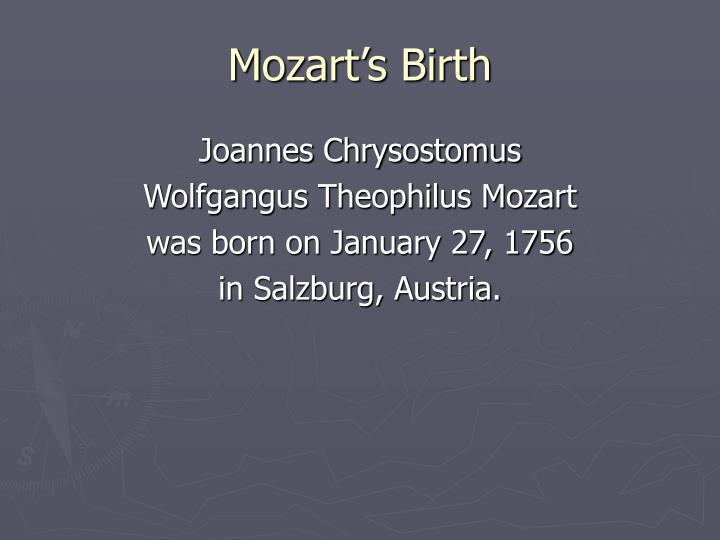 Mozart's Birth