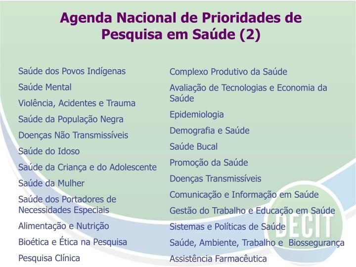Agenda Nacional de Prioridades de Pesquisa em Saúde (2)