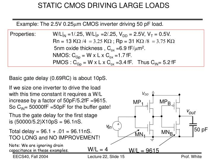 STATIC CMOS DRIVING LARGE LOADS