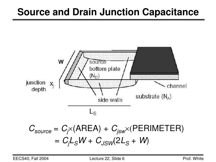 Source and Drain Junction Capacitance