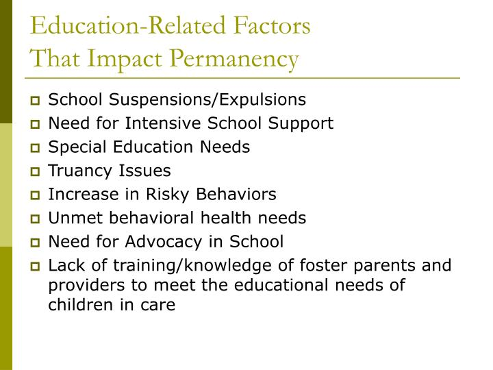 Education-Related Factors