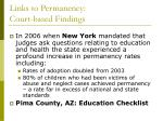 links to permanency court based findings