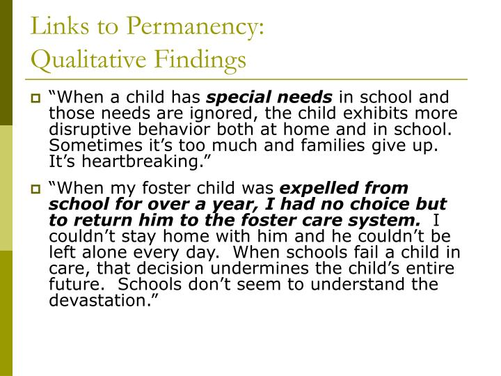 Links to Permanency: