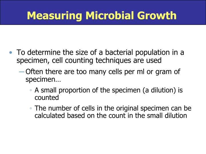 Measuring Microbial Growth