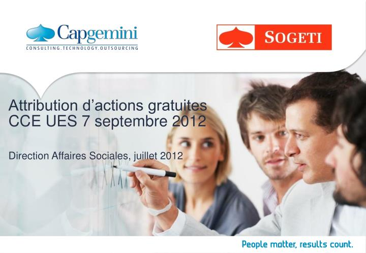 Attribution d actions gratuites cce ues 7 septembre 2012