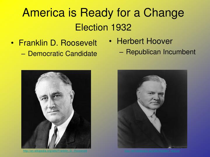 America is ready for a change election 1932