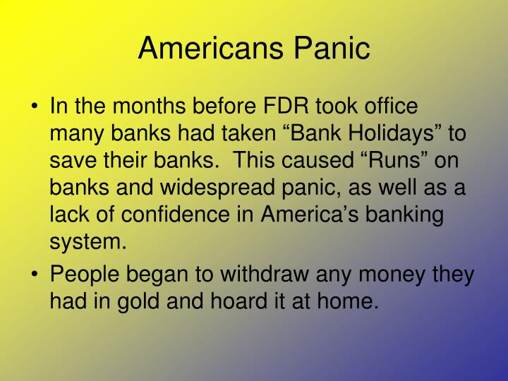 Americans Panic