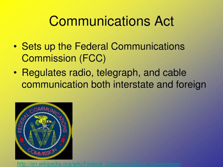 Communications Act