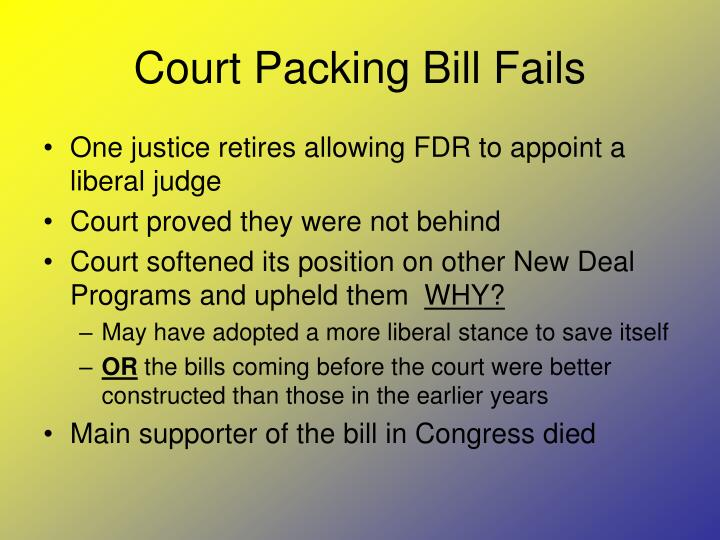 Court Packing Bill Fails